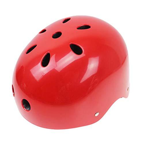 JIE KE Motorhelm Skateboard katrol veiligheidshelm outdoor sporthelm extreme sport helm skihelm Red-S