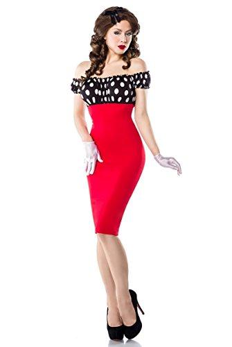 Sexy vintage cocktailjurk penciljurk jurk potlood cocktail rood rockabilly