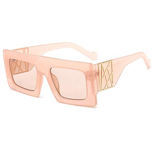 TANGMING Mode Big Frame Sonnenschutz Sonnenbrillen Rahmen Frauen Brille Outdoor Street Shooting Sonnenbrille Anti-UV-Brille Champagner Rahmen Champagner Tabletten
