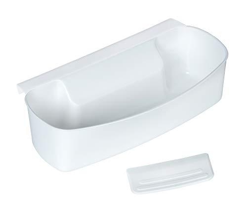 Wenko Auffangschale für Küchenabfälle, Abfallbehälter für Bio-Abfall in der Küche, zum Einhängen, Kunststoff, 32,4 x 17,3 x 9,2 cm, weiß