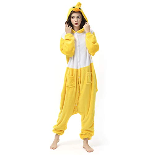 Katara 1744 (30+ Designs) Enten-Kostüm Küken, Unisex Onesie/ Pyjama-Qualität für Erwachsene & Teenager