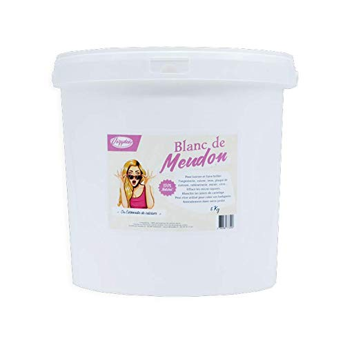 Blanc de Meudon ou carbonate de calcium - Seau de 8Kg - Nettoie et fait briller - Guide d'utilisation offert !