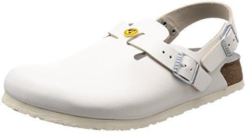 Birkenstock 61418-39-schmales Schuh TOKIO Antistatik/Naturleder schmales Fußbett, Weiß, Größe 39