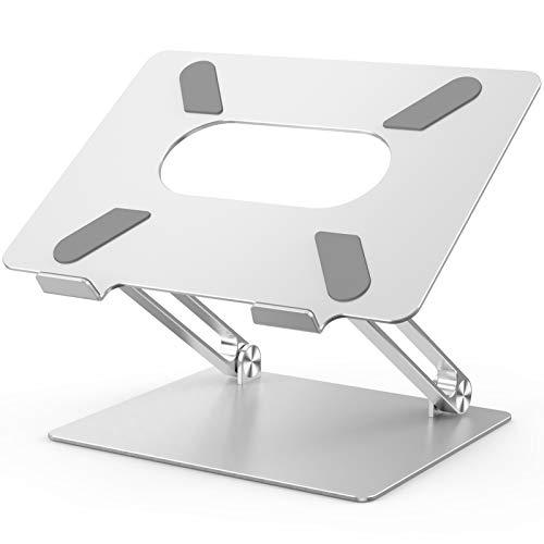 POVO Laptop Ständer Universal PC Halter Verstellbarer ergonomischer Notebook-Ständer Halterung, Riser für alle 10-17 Zoll Laptops