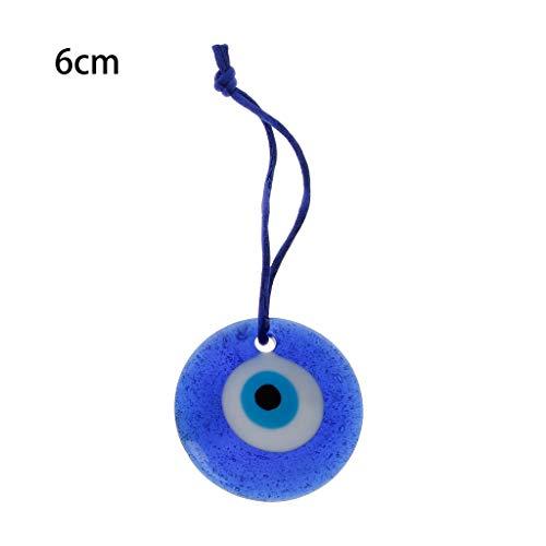 GEQING Gran Amuleto de Cristal Azul de la protección mística del Ojo Malvado del Amuleto de la Suerte