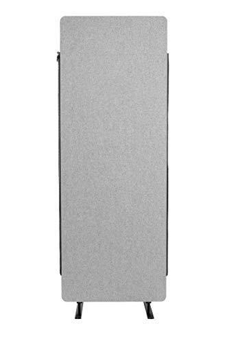 S Stand Up Desk Store ReFocus Akustik-Raumteiler - Büro-Trennwände (Cool Gray, 24