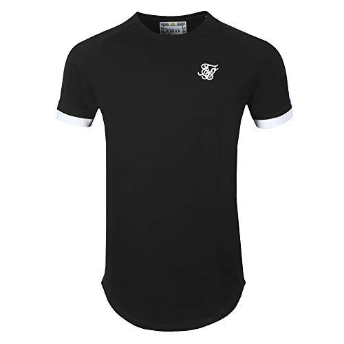Sik Silk - SS15803 - Inset Cuff Fade Panel - Camiseta Manga Corta - Hombre