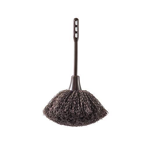 BECCYYLY Duster 19,3 + 10Cm Cepillo de Limpieza de Teclado Cepillo de Limpieza de Polvo Cepillo de Limpieza de Escritorio Cepillo de Limpieza de Plumero Mini Cepillo de Limpieza de Polvo Marrón
