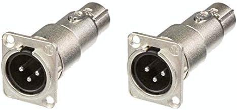 2 Neutrik NA3MDF 3 Pin Mic XLR Male to Female Adapter Feed Pass Thru Converter product image