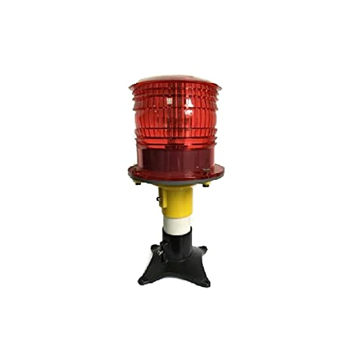 ZHU-CL Strobe Warning Light Wiressless Remote Control Solar Powered Marine Boat Navigation Light Round Warning Light for Airport taxiway Side Light (Color : Yellow)