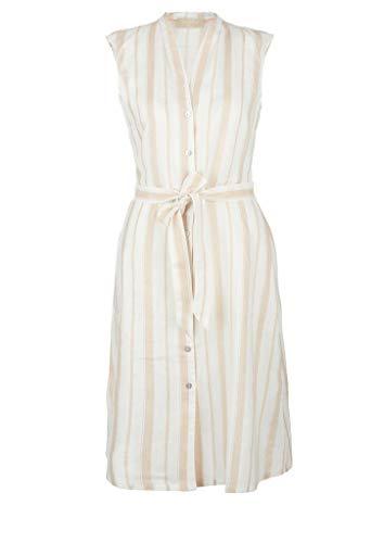 s.Oliver Damen Kleid kurz beige stripes 38