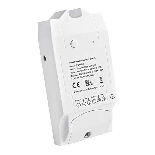 Sonoff POW R2 Interruttore Intelligente WIFI Smart Switch Temporizzatore (Consumo Energetico Misurabile, Potere, Tensione, Corrente Elettrica) per Alexa, Google Home, Google Nest y IFTTT