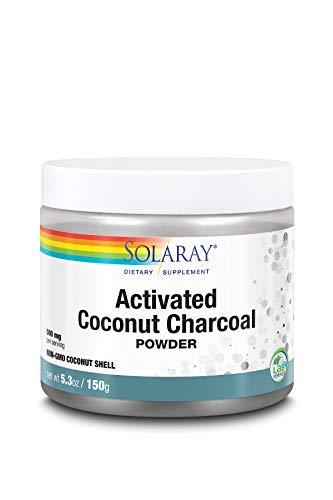 Solaray Activated Coconut Charcoal Powder| Carbón Activado | Polvo | 150...