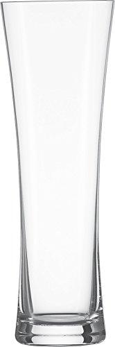 Schott Zwiesel 120012 Beer Basic 2-teiliges Weizenbierglas Set klein, Kristall, farblos, 2er Set