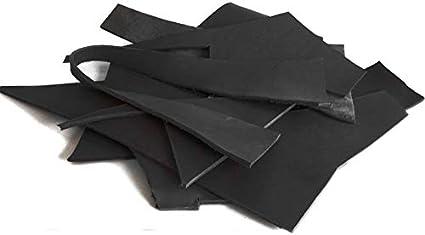 Bastelleder schwarz 1,4-1,7 mm Lederstück Lederreste Rindsleder