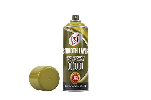 Smooth Layer, filler primer, aparejo alto espesor, masilla gris, imprimación en spray para impresión 3D, imprimación para plásticos, postprocesado pla, smooth layer print 3D (THICK 000)