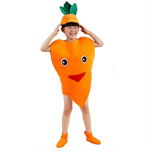 Traje verduras frutas niños Fiesta Infantil Cosplay Ropa Para Niños Disfraces Fiesta Niños Niñas (zanahoria)