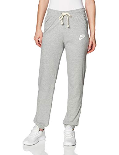Nike Damen Hose Sportswear Gym Vintage, Dark Grey Heather/Sail, L, CJ1793-063