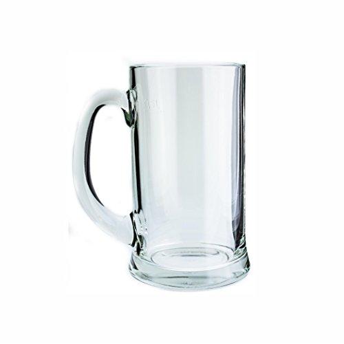 Borgonovo 12003820 Icon Bierseidel, Bierkrug, Bierglas, 660ml, mit Füllstrich bei 0.5l, Glas, transparent,6 Stück