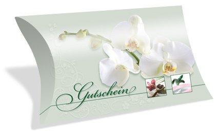 Gutscheinkarten in Etui-Form (10 Stück) einfach Werte eintragen und stempeln - Geschenkbox für Kosmetik, Beauty, Wellness