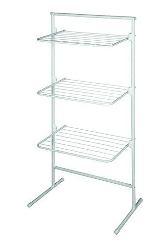 Rörets Tendedero de torre modelo Triple – Tendedero flexible para espacios pequeños – 40 x 65 x 138 cm – Diseño sueco