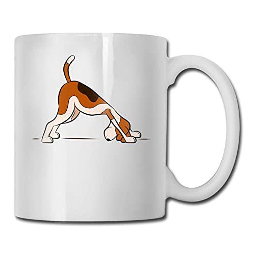 N\A Taza de café de cerámica con Postura Gou Yuga con asa para Capuchino, café con Leche, Sopa, té, Cereales, café, Cacao