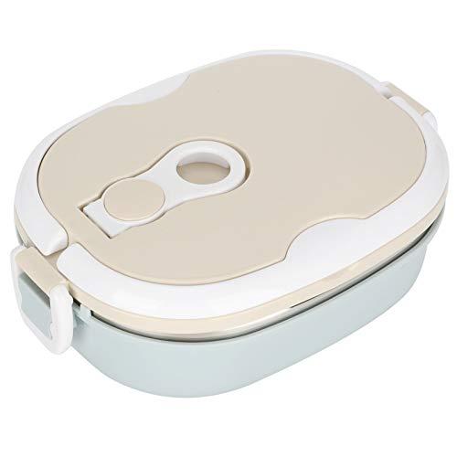 Fiambrera Bento, Fiambrera termo apilable Envase de comida aislado de acero inoxidable para...