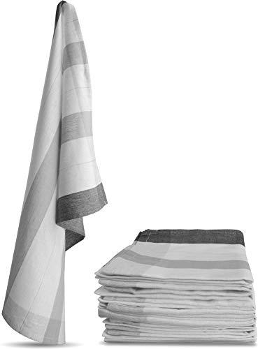 Aspero 10 x Geschirrtücher, Geschirrtuch, Küchentuch, Abtrocktuch waschbar bis 60 °C Farbe New/Grau