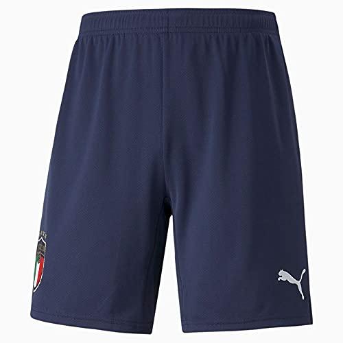 FIGC Away Shorts Replica, Peacoat-Puma White, M