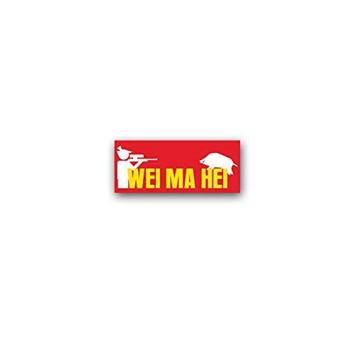 Aufkleber/Sticker WeiMaHei Weidmannsheil Jäger Jagdgruß Eber Jagd 3,5x8cm A3315