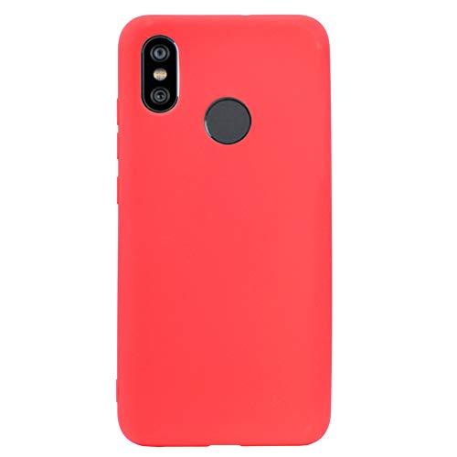 ZDCASE Redmi Y2 Funda, A Prueba de choques TPU Suave Ultra Delgado Ligero Flexible Caucho Protectora Funda para Xiaomi Redmi S2 / Redmi Y2 - Rojo