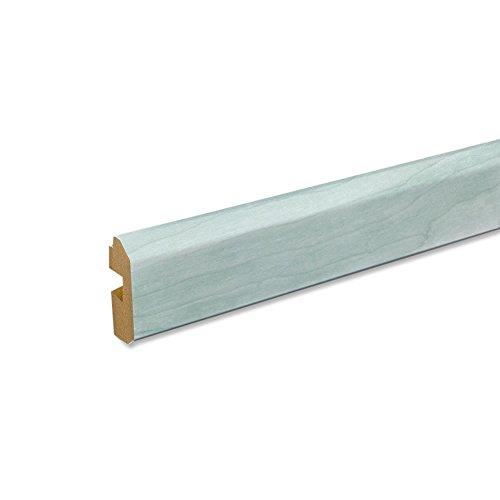 Paneel-Abschlussleiste Abdeckleiste mit Schattenfuge aus MDF in Birke grün 2600 x 35 x 17 mm