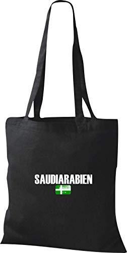 Shirtstown Yute Bolsa de Tela Arabia Saudita Land Países Fútbol - celeste, 38 cm x 42 cm