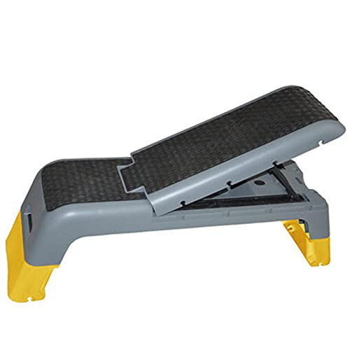 Plataforma de paso aeróbico Deporte multifuncional Yoga Fitness Paso Aerobic Rhythm Pedal Aerobic Aerobics Silla Mancuerna Plataforma de paso aeróbica ajustable ( Color : Yellow , Size : 110x34x35cm )