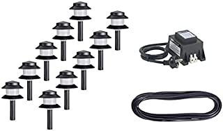 Low Voltage Garden Light Kit - Includes 10 x Outdoor Path Lights; HPM 105W Transformer; 15m Cable
