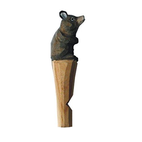 Chaveiro de apito de madeira de animais Munkees, apito de madeira do zodíaco chinês esculpido, chaveiro para acampamento, ar livre, caminhadas, mochilão, emergência, sobrevivência