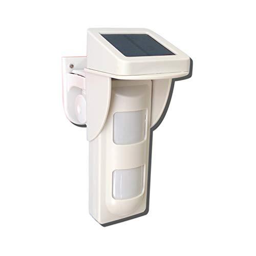 Sensore Volumetrico Doppio PIR da Esterno Solare DynaSn Home DS828W Tecnologia Wireless 433 Mhz per Allarme Antifurto Casa PET Immune IP65 Pannello Fotovoltaico