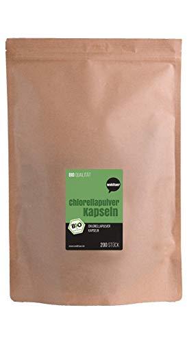 Wohltuer Bio Chlorella Kapseln 200 St | Rohkost | 100% Vegan | Chlorella vulgaris leicht zu dosieren