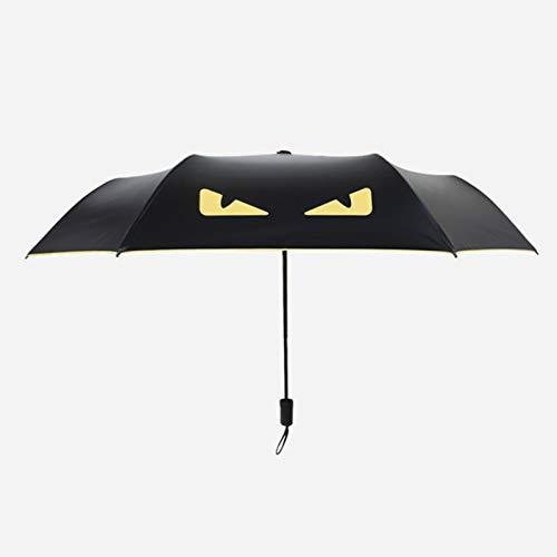 erfgh Devil Umbrella Vinilo Paraguas de Doble propósito, Creativo Triple protección Solar Plegable y protección UV Paraguas Solar