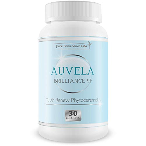 Auvela Brilliance SF - Youth Renew Phytoceramides - Hydrate Your Skin - Promote a More Youthful Appearance and Smoothness - Help Prevent The Appearance of Aging - Ageless by Jeaune Bisou Alluvia Labs