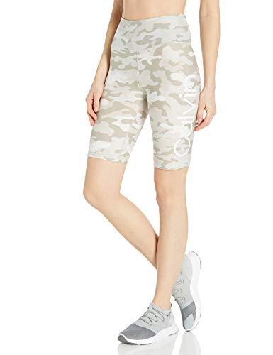 Calvin Klein Damen Calvin Logo High Waist Bike Yoga-Shorts, Camo Nu Beige Combo, Groß