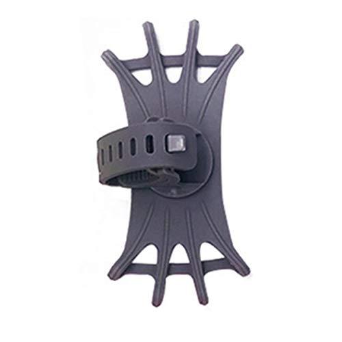 Morninganswer Soporte Universal para teléfono Bicicleta de Silicona Soporte para teléfono móvil Soporte Giratorio de 360 Grados Soporte para teléfono móvil Gris