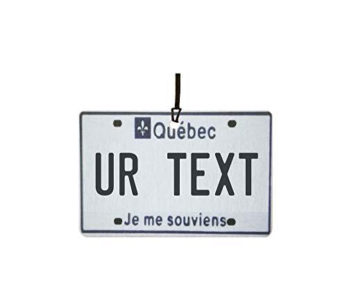 Ali Air Freshener Personalisierter Quebec Nummernschild Auto Lufterfrischer