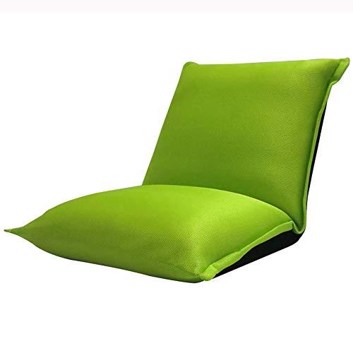 LJFYXZ Canapé Paresseux Chaise Simplicité Moderne Chaise d'ordinateur Pliante Mesh Respirant Réglage à 5 Vitesses Salon Chambre Coussin Vert