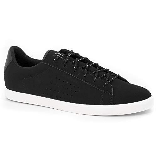 le coq Sportif Dames Agate Nubuck Black/Old Silver Sneakers