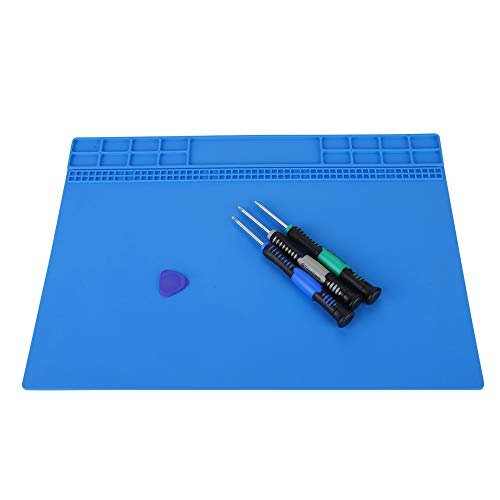 JULYKAI Silicone Mat Soldering Pad Soldering Mat Anti-Static Mat for Electronics for Telephone