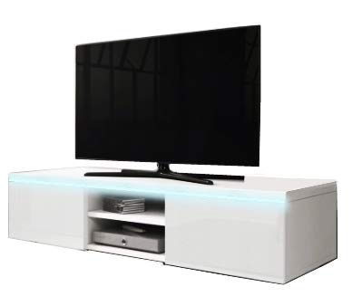 KRAK MÖBEL Tv Lowboard Hochglanz weiß Weiss 120cm Wohnzimmer Wandschrank Hängeschrank Tv Schrank Sideboard Modern LED