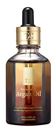 TZ Fermentation Argan Oil (1.69 Fl.Oz) | 100% Pure Organic Moroccan Argan Oil for Skin, Hair, Nail & Face | Anti-aging & Moisturizer for Hair & Face | Cold Pressed & Rich in Nutrients