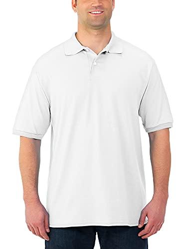 Jerzees Herren Spot Shield Short Sleeve Polo Sport Shirt Poloshirt, weiß, X-Groß