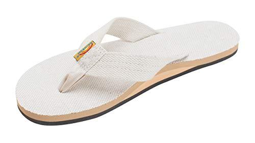Rainbow Sandals Women's Single Layer Hemp, Natural Hemp, Ladies Medium / 6.5-7.5 B(M) US